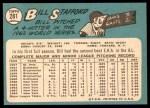 1965 Topps #281  Bill Stafford  Back Thumbnail