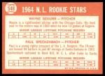 1964 Topps #548   -  Wayne Schurr / Paul Speckenbach NL Rookies Back Thumbnail