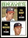 1964 Topps #541   -  Phil Niekro / Phil Roof Braves Rookies Front Thumbnail