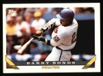 1993 Topps #2  Barry Bonds  Front Thumbnail