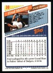 1993 Topps #30  Fred McGriff  Back Thumbnail