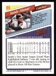 1993 Topps #85  Sandy Alomar Jr.  Back Thumbnail