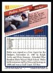 1993 Topps #93  Pedro Astacio  Back Thumbnail