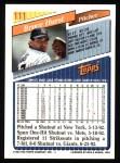 1993 Topps #111  Bruce Hurst  Back Thumbnail