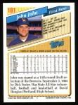 1993 Topps #181  John Jaha  Back Thumbnail
