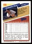 1993 Topps #198  Alejandro Pena  Back Thumbnail