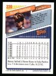 1993 Topps #220  Benny Santiago  Back Thumbnail