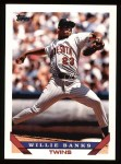 1993 Topps #226  Willie Banks  Front Thumbnail