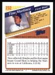 1993 Topps #232  Tino Martinez  Back Thumbnail