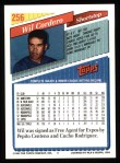 1993 Topps #256  Wil Cordero  Back Thumbnail