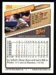 1993 Topps #354  Jay Bell  Back Thumbnail