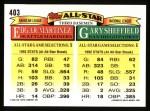 1993 Topps #403   -  Gary Sheffield / Edgar Martinez All-Star Back Thumbnail