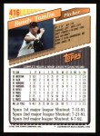 1993 Topps #416  Randy Tomlin  Back Thumbnail