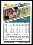 1993 Topps #439  Bryan Harvey  Back Thumbnail