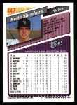 1993 Topps #447  Keith Shepherd  Back Thumbnail