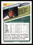 1993 Topps #454  John Johnstone  Back Thumbnail