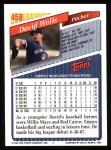 1993 Topps #458  David Wells  Back Thumbnail