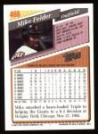 1993 Topps #466  Mike Felder  Back Thumbnail