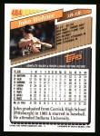 1993 Topps #484  John Wehner  Back Thumbnail