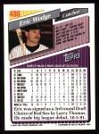 1993 Topps #486  Eric Wedge  Back Thumbnail