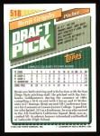 1993 Topps #518  Benji Grigsby  Back Thumbnail