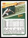 1993 Topps #580  Walt Weiss  Back Thumbnail