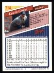 1993 Topps #714  Kevin Gross  Back Thumbnail
