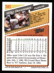 1993 Topps #741  Mike Devereaux  Back Thumbnail