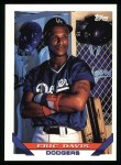1993 Topps #745  Eric Davis  Front Thumbnail