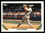 1993 Topps #100  Mark McGwire  Front Thumbnail