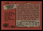 1987 Topps #125  Charles Haley  Back Thumbnail