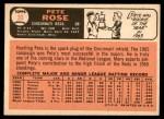 1966 Topps #30  Pete Rose  Back Thumbnail