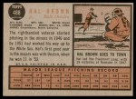 1962 Topps #488  Hal Brown  Back Thumbnail