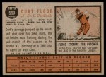 1962 Topps #590  Curt Flood  Back Thumbnail