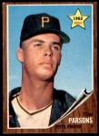 1962 Topps #326  Tom Parsons  Front Thumbnail