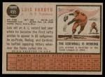 1962 Topps #455  Luis Arroyo  Back Thumbnail
