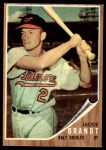1962 Topps #165 GRN Jackie Brandt  Front Thumbnail