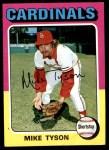 1975 Topps #231  Mike Tyson  Front Thumbnail
