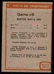 1972 Topps #6   NHL Playoff Game 5 Back Thumbnail