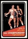 1972 Topps #246   ABA Championship Game #6 Front Thumbnail