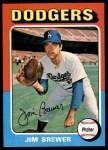 1975 Topps #163  Jim Brewer  Front Thumbnail