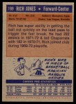 1972 Topps #199  Rich Jones   Back Thumbnail