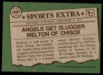 1976 Topps Traded #309 T Bill Melton  Back Thumbnail