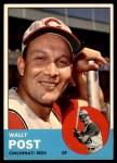 1963 Topps #462  Wally Post  Front Thumbnail