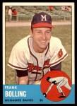 1963 Topps #570  Frank Bolling  Front Thumbnail