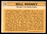 1963 Topps #294  Bill Rigney  Back Thumbnail