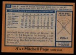 1978 Topps #55  Mitchell Page  Back Thumbnail