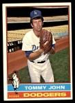 1976 Topps #416  Tommy John  Front Thumbnail