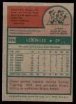 1975 Topps #506  Leron Lee  Back Thumbnail