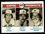 1979 Topps #720   -  Jerry Fry / Jerry Pirtle / Scott Sanderson Expos Prospects Front Thumbnail